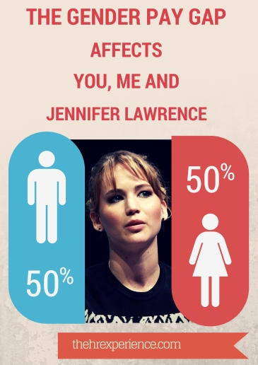 The Gender Pay Gap Affects you, me and Jennifer Lawrence POSTER